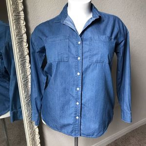 Old Navy Denim Button Up Shirt